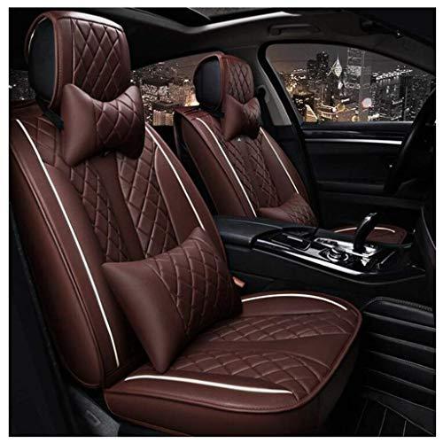 ShiBin Sitzbezüge All-Inclusive-Echtleder-Autositzbezug Four Seasons Universal-Atmungsaktiver Sitzbezug Car Dedicated Full Surrounded Cushion Sitzbezügesets (Color : Brown)