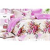 155x200 rosa beige creme mehrfarbig Bettwäsche Bettbezüge Bettwäschegarnituren 100% Baumwollsatin Blumenmuster 119