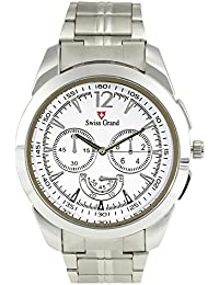 Swiss Grand SG-1165 Silver Coloured With Silver Stainless Steel Strap Analog Quartz Watch For Men