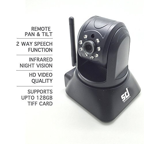 Smiledrive Easycam Plug & Play WIFI IP Security Home/Office Camera with 128GB MicroSD Slot, Pan & Tilt, Night Vision