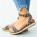 BITUBITU Sandalias de Plataforma para Mujer Zapatos con Correa en el Tobillo Zapatillas con Tiras en Punta Abierta para la Playa de Verano