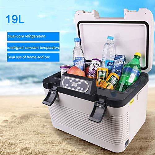 ADHW 19 Liter Kühlbox 12v Elektrischer Reise-Kühlschrank Tragbare Kompaktes Eisbox -5°C bis 60°C Temperatureinstellung,Für Picknick,Camping, Reisen