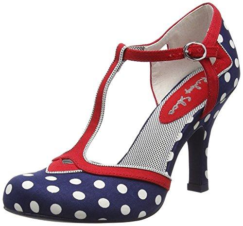Ruby Shoo Hatty Damen Pumps Blue (Navy Spots)