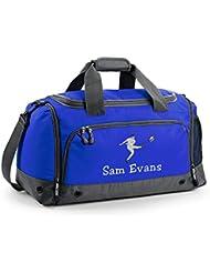 Personalizado Rugby bolsa, color azul real, tamaño 54 x 29 x 26 cm