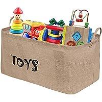 Preisvergleich für Tougo Extra Große Spielzeugkiste 22 Zoll Spielzeug Aufbewahrungskiste Spielzeugbox Jute faltbar Aufbewahrungsbox