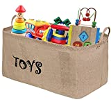 "Update Tougo XXL 22"" Jute Toy Chest Baskets Storage Bins Organizer - Perfect for Organizing Toy Storage, Baby Toys, Kids Toys, Dog Toys, Baby Clothing, Children Books, Gift Baskets"