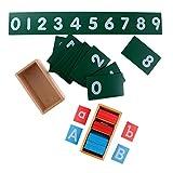Sharplace 1 Establecer Tablero Montessori Sand Alphabets + 1 Establecer Tableros Numéricos de Arena Montessori