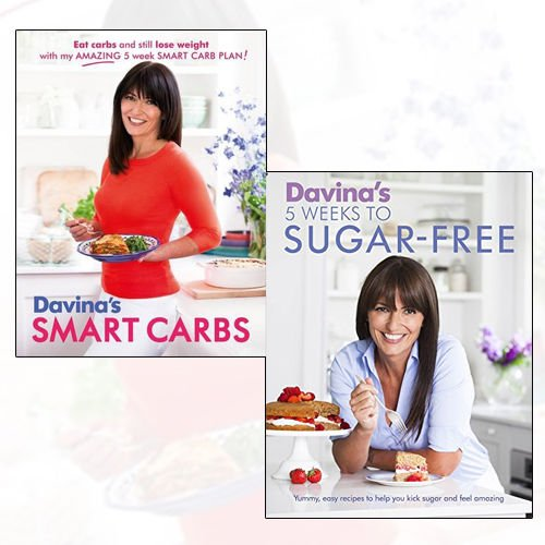 Davina McCall 2 Books Bundle Collection (Davina's Smart Carbs: Eat Carbs and Still Lose Weight With My Amazing 5 Week Smart Carb Plan!, Davina's 5 Weeks to Sugar-Free: Yummy, easy recipes to help you kick sugar and feel amazing)