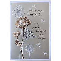 Hallmark Sympathy Card For Friend 'Words Of Comfort' - Medium