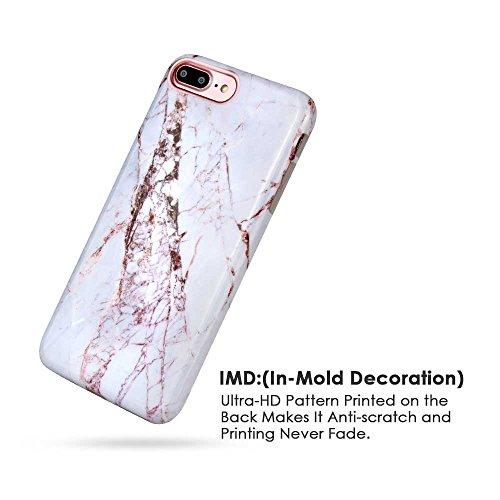 iPhone 6s Coque, ANCREU Etui Housse en TPU Imprimer Silicone Soft Case Arriere avec Marbre Back Cover Ultra Mince Shell de Protection Anti-Choc Bumper pour iPhone 6 / iPhone 6s White