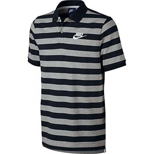 Nike M Nsw Polo Pq Strp Bld Mchp - Polo Herren, Farbe Blau, Größe Grau