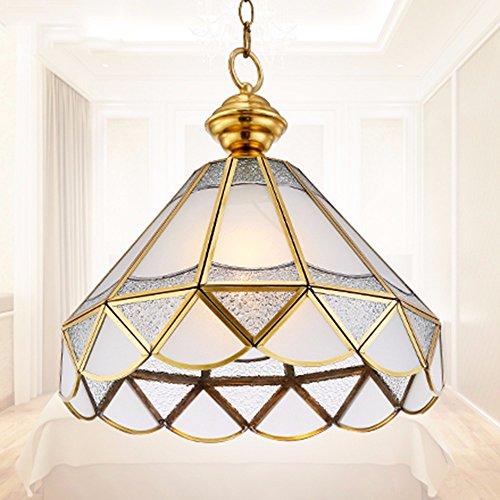MeloveCc Kronleuchter Kreative Haushalt Beleuchtung Schlafzimmer Wohnzimmer Persönlichkeit Lampen und Leuchtern Continental Kupfer Balkon Flure Outdoor einem Kopf 36 * 33 Cm