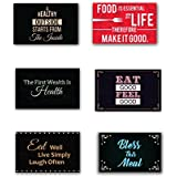 Yaya Cafe 12 X 18 Inches Eat Good Feel Good Printed Table Mats Placemats For Dining Table Set Of 6