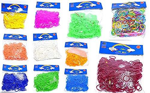 Loom 6000 Bänder Bandz Gummibänder Basteln Kinderspielzeug viele Farben (Bands Loom 6000)