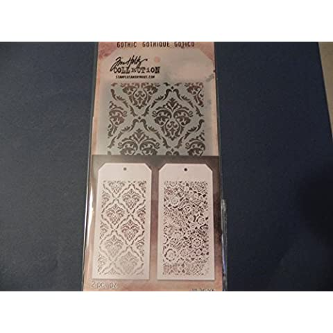 Tim Holtz Layering Stencils Duo Pack ~ Doily & Gothic!!!