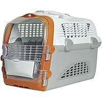 Catiti Pet Cargo Cabrio, Transportbox, weiß-grau-orange