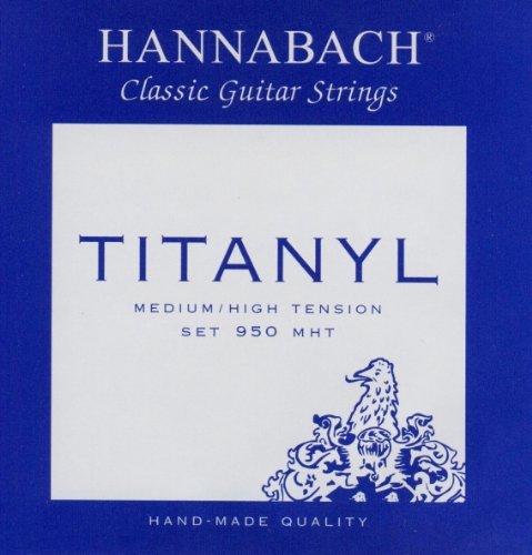 Hannabach 653157 Klassikgitarrensaiten Serie 950 Medium / High Tension Titanyl - Satz (Titan-gitarren-saiten)