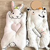 werchenli Baby Krabbeldecke Spiel Matte 100% natürliche Baumwolle, schlafen Teppich, Tier Form Anti-Rutsch Dick tragbar