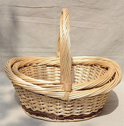 POPE Cestino di vimini cesto di frutta cesto di bambù rattan cestino colore sub ( (Cesti Bambino Di Vimini)