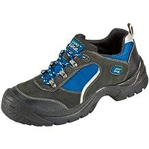"""S1 """"Göhren"""" - Zapato de Seguridad con Aspecto de Deportiva de Piel de Gamuza con Tapa de Acero con Suela Antideslizante PUR - negro / azul, 42"""
