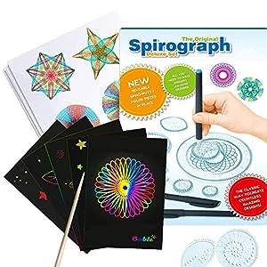 Spirograph Deluxe Set Design Giocattoli Educativi Disegno Giocattoli Insieme Spirografo per Adulti e Bambini (Giochi Spirograph)