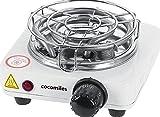 cocomiles® Heater Kohleanzünder für Shisha Kohle 500W Kohlenanzünder Elektrisch Weiß mit Gitter 140 cm Kabel