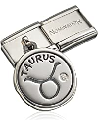 Nomination 031714-02 - Dije de acero inoxidable con circonita