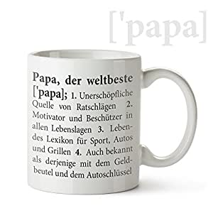 tasse mit aufdruck definition bester papa standard originelle kaffeetasse in wei als. Black Bedroom Furniture Sets. Home Design Ideas