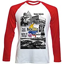 teesquare1st Colombia Medellin Camiseta DE Mangas ROJA LARGAS T-Shirt