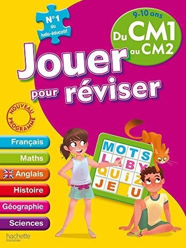 Jouer pour réviser - Du CM1 au CM2 9-10 ans - Cahier de vacances