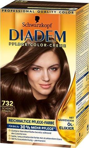 Diadem Pflege-Color-Creme 732 Schokobraun, 3er Pack (3 x 142 ml)