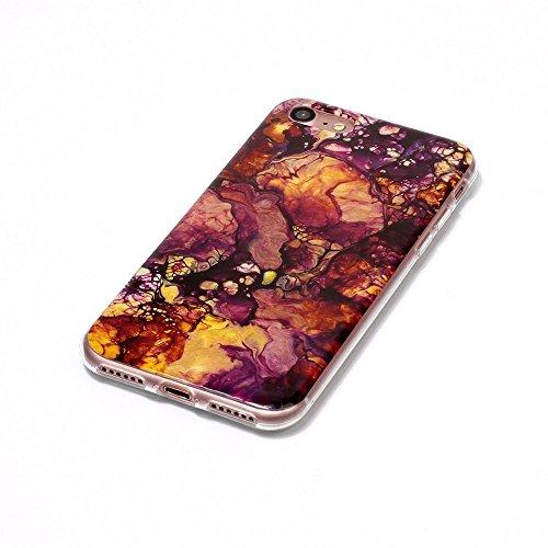 Ouneed® Für 7 4.7 Zoll Hülle , Mütter Tag Geschenk Rosa Marble Texture Print Cover Case Skin für iPhone 7 4.7 Zoll (D) D