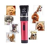KYG Tierhaarschneider mit 2000mAh Lithium-Batterie Haarschneider Hund