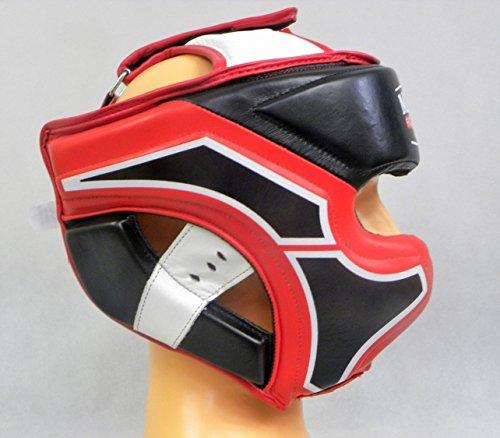 Masters Fight Equipment KSS TECH Leder Kopfschutz Boxen Kickboxen MMA Muay Thai Abbildung 3