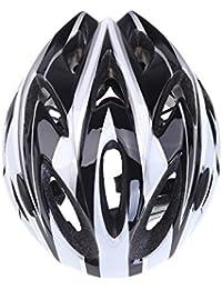 Casco de bicicleta - TOOGOO(R) [Circunferencia de cabeza: 54 ~ 64cm] Estilo guapo! Ultraligero Casco de bicicleta para bicicleta de montana ir a trabajar ir a la escuel Negro + blanco