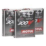 Huile moteur Compétition MOTUL 104242 300V POWER 5W-40, Pack 6 Litres (conteneur en...