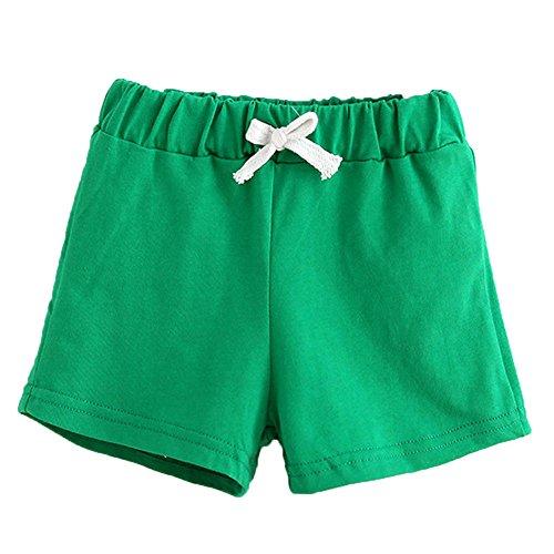 Honestyi BabyBekleidung Sommer Kinder Baumwolle Shorts Jungen Und Mädchen Kleidung Baby Fashion Hosen (140,Grün)