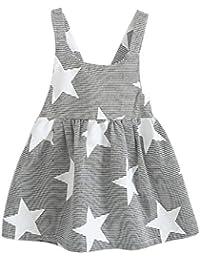 Fossen Niñas Vestidos Sin Mangas Patrón de Estrellas ...