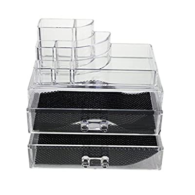 KurtzyTM Clear Acrylic Table Top Makeup Beauty Organiser Stand produced by Kurtzy - quick delivery from UK.