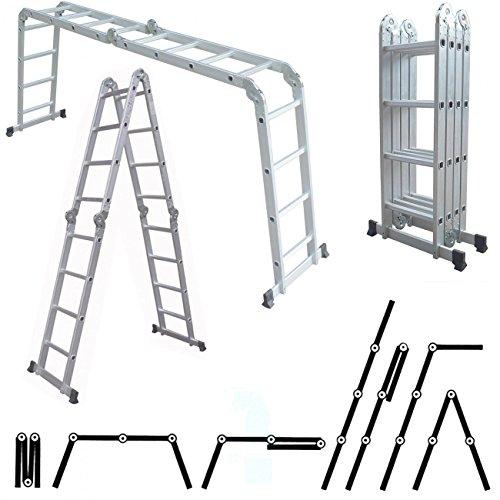 MAXCRAFT 82654489 - Escalera multifunción (multi-propósito) de andamio, ajustable y plegable, 4.75m