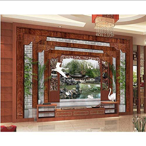 Ytdzsw Garten Der Tapete 3D Fertigen Wandgemälde-Tapete-Malerei 3D Für Wohnzimmer Schlafzimmer-Dekorativen Hintergrund Besonders An-200X140Cm