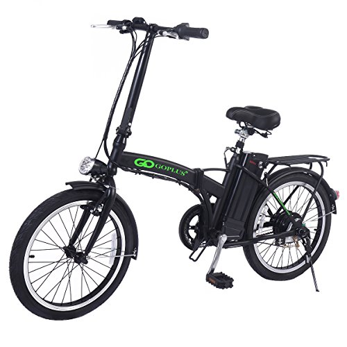 COSTWAY 20 Zoll Elektrofahrrad E-Bike E-Faltrad Klappfahrrad 36V 10AH 250W klappbar (schwarz)
