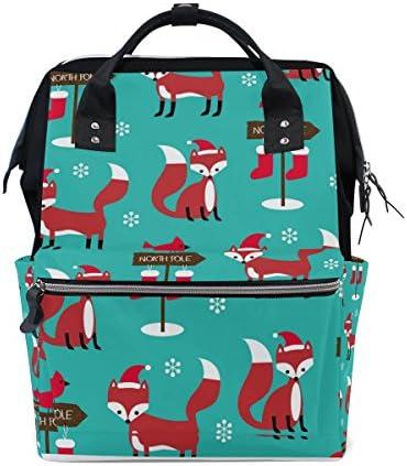 b6280a210b Tizorax Christmas Foxes pannolino pannolino pannolino zaino grande  capacità Baby mamma multifunzione borsa Portapannolini da viaggio  zaino per i ...