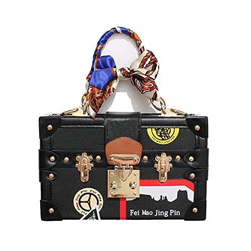 Zyup Crossbody bag Crossbody Mode Seide Schal Square Box Tasche Wild Print Umhängetasche -