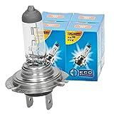 ECD Germany 4er Pack Halogen Lampe H7 55W 4000K 12V mit E4 Zulassung Glühbirne Birne Glühlampe Scheinwerferlampe Autolampe