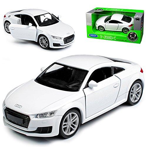Welly A-U-D-I TT 8S Coupe Weiss 3. Generation Ab 2014 ca 1/43 1/36-1/46 Modell Auto mit individiuellem Wunschkennzeichen
