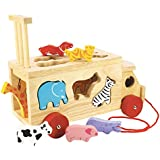 Djeco Wooden Blue Cow Shape Sorter Baby Toy Amazon Co Uk