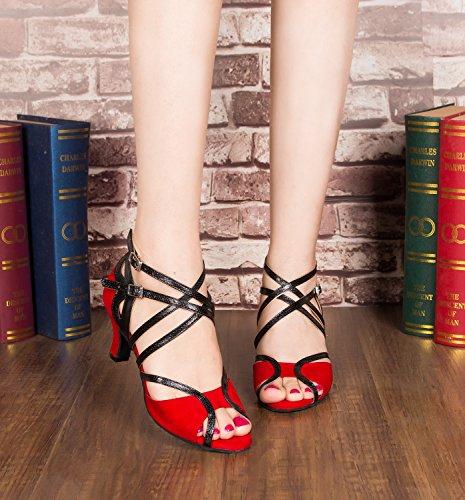 Minitoo ,  Damen Jazz, modern , Rot – Red-6cm Heel – Größe: 40 - 5