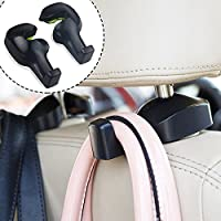 Binoster Universal Car Vehicle Back Seat Headrest Hook Hanger Holder Hook for Bag Purse Cloth Grocery Space Saving Organizer