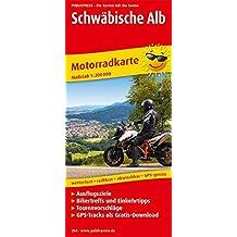 Schwäbische Alb: Motorradkarte mit Tourenvorschlägen, Ausflugszielen, Biker- & Einkehrtipps, GPS-Tracks als Gratis-Download, reissfest, wetterfest, abwischbar, GPS-genau. 1:200000 (Motorradkarte / MK)